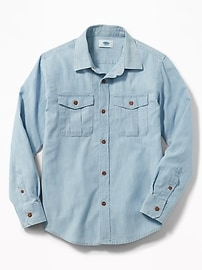 Classic Double-Pocket Shirt for Boys