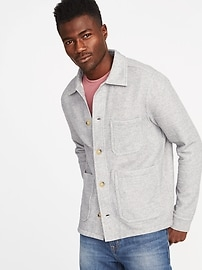 Soft-Washed Fleece Chore Jacket for Men