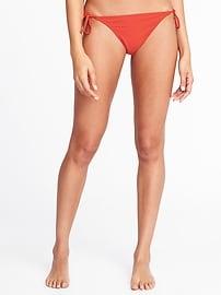Bas de bikini à cordelettes pour femme