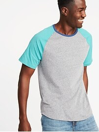 Color-Blocked Raglan-Sleeve Tee for Men
