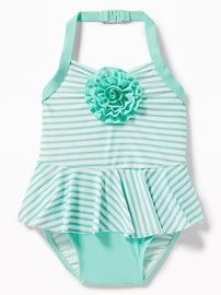 Rosette Halter Swimsuit for Toddler Girls