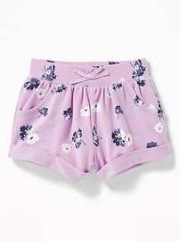 Cuffed French Terry Shorts for Toddler Girls
