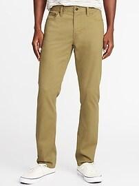 Slim All-Temp Built-In Flex Twill Five-Pocket Pants for Men