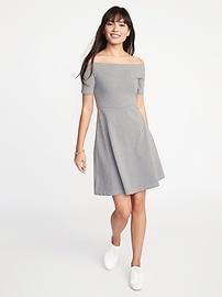 Fit & Flare Off-the-Shoulder Dress for Women