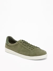 Sueded Court Sneakers for Men