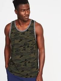 Soft-Washed Printed Pocket Tank for Men