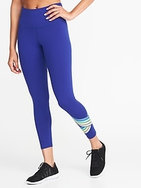 High-Rise 7/8-Length Compression Leggings for Women
