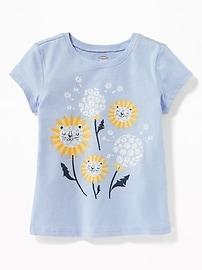 T-shirt à imprimé pour toute-petite fille