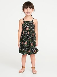 Floral Fit & Flare Cami Dress for Toddler Girls