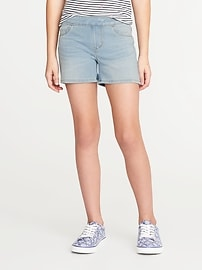 Short en denim à enfiler pour fille