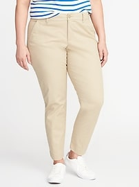 Smooth & Slim Plus-Size Skinny Everyday Khakis
