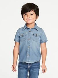 Denim Utility Shirt for Toddler Boys