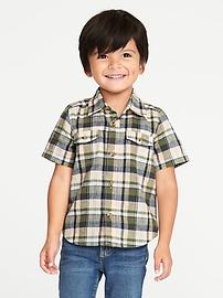 Plaid Pocket Shirt for Toddler Boys