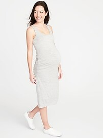 Maternity Bodycon Midi Tank Dress