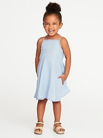 Chambray Cami Dress for Toddler Girls