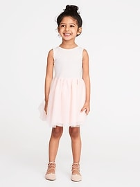 Tutu Tank Dress for Toddler Girls