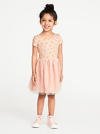 Fruit-Print Tutu Dress for Toddler Girls