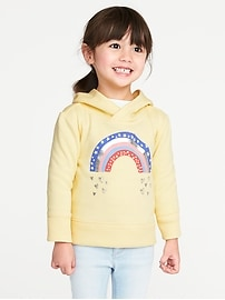 Graphic Fleece Pullover Hoodie for Toddler Girls