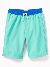 Color-Block Swim Trunks for Boys