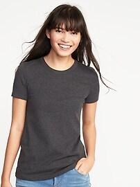 T-shirt coupe étroite en tricot côtelé pour femme