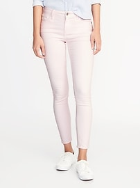 Mid-Rise Pop-Color Rockstar Ankle Jeans for Women