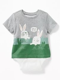 2-in-1 Graphic Bodysuit For Baby