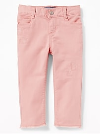 Distressed Pop-Color Jeans for Toddler Girls