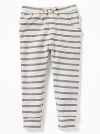 Striped French-Terry Joggers for Toddler Girls