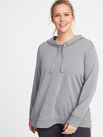 French-Terry Plus-Size Swing Hoodie