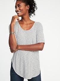 Tunique décontractée en tricot grège luxueux pour femme