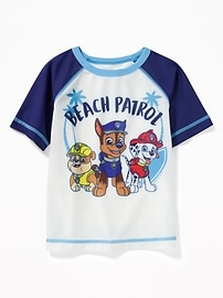 "Paw Patrol&#153 ""Beach Patrol"" Rashguard for Toddler Boys"