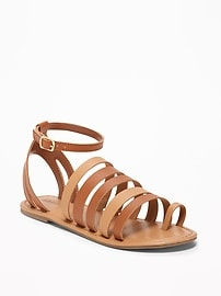 Two-Tone Gladiator Sandals for Girls