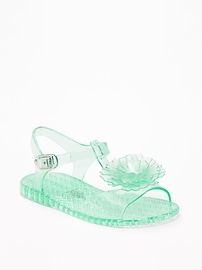 Flower Jelly Sandals for Toddler Girls