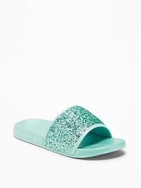 Glitter Slide Sandals for Girls