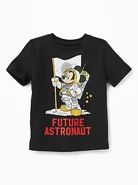 "Disney&#169 Mickey Mouse ""Future Astronaut"" Tee for Toddler Boys"