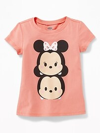 Disney&#169 Chibi Mickey & Minnie Mouse Tee for Toddler Girls