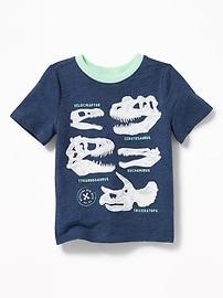 Dinosuar-Skull Graphic Tee for Toddler Boys