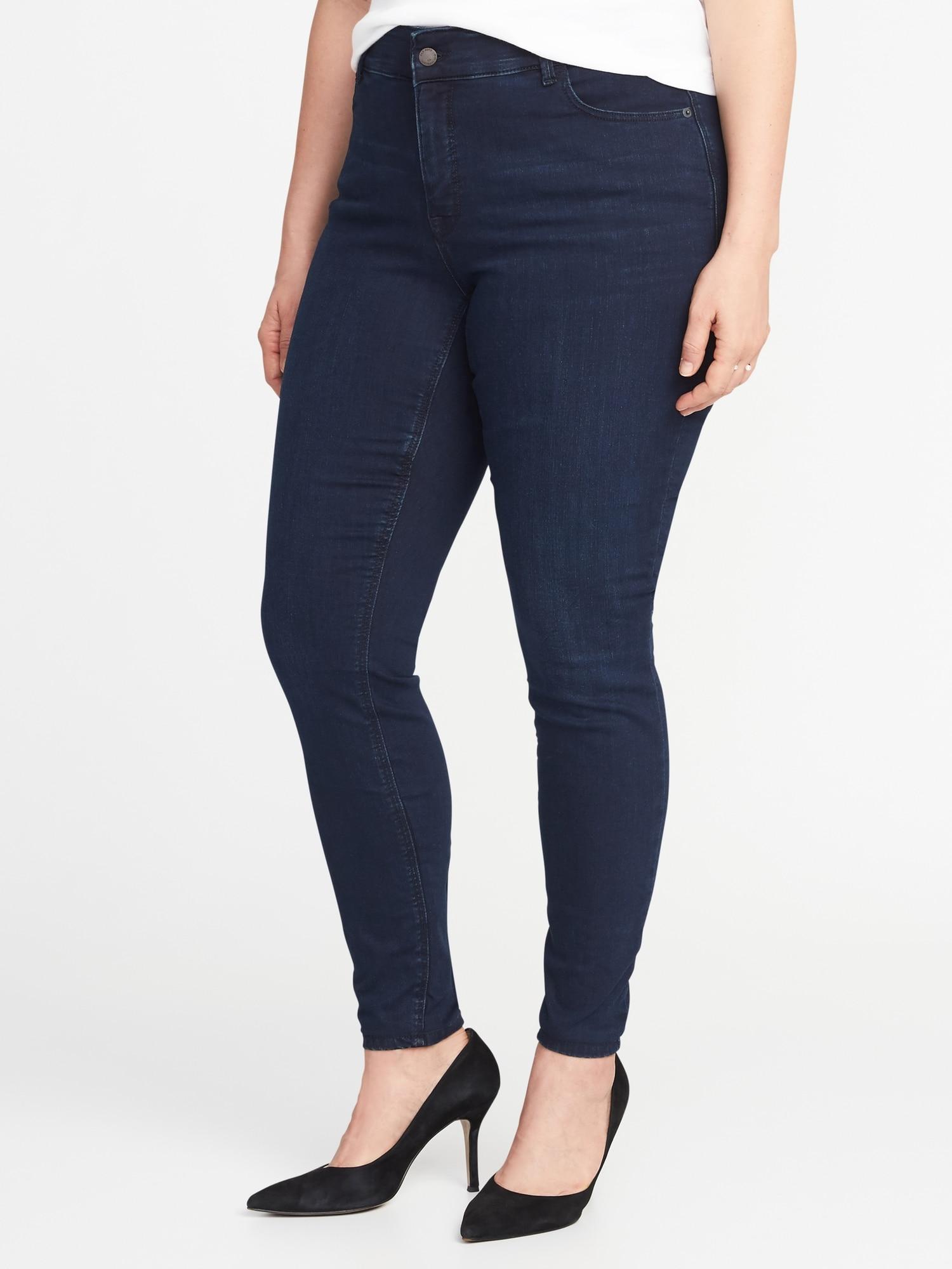7f1c60d8350f8 High-Rise Secret-Slim Pockets + Waistband Plus-Size Rockstar Jeans ...