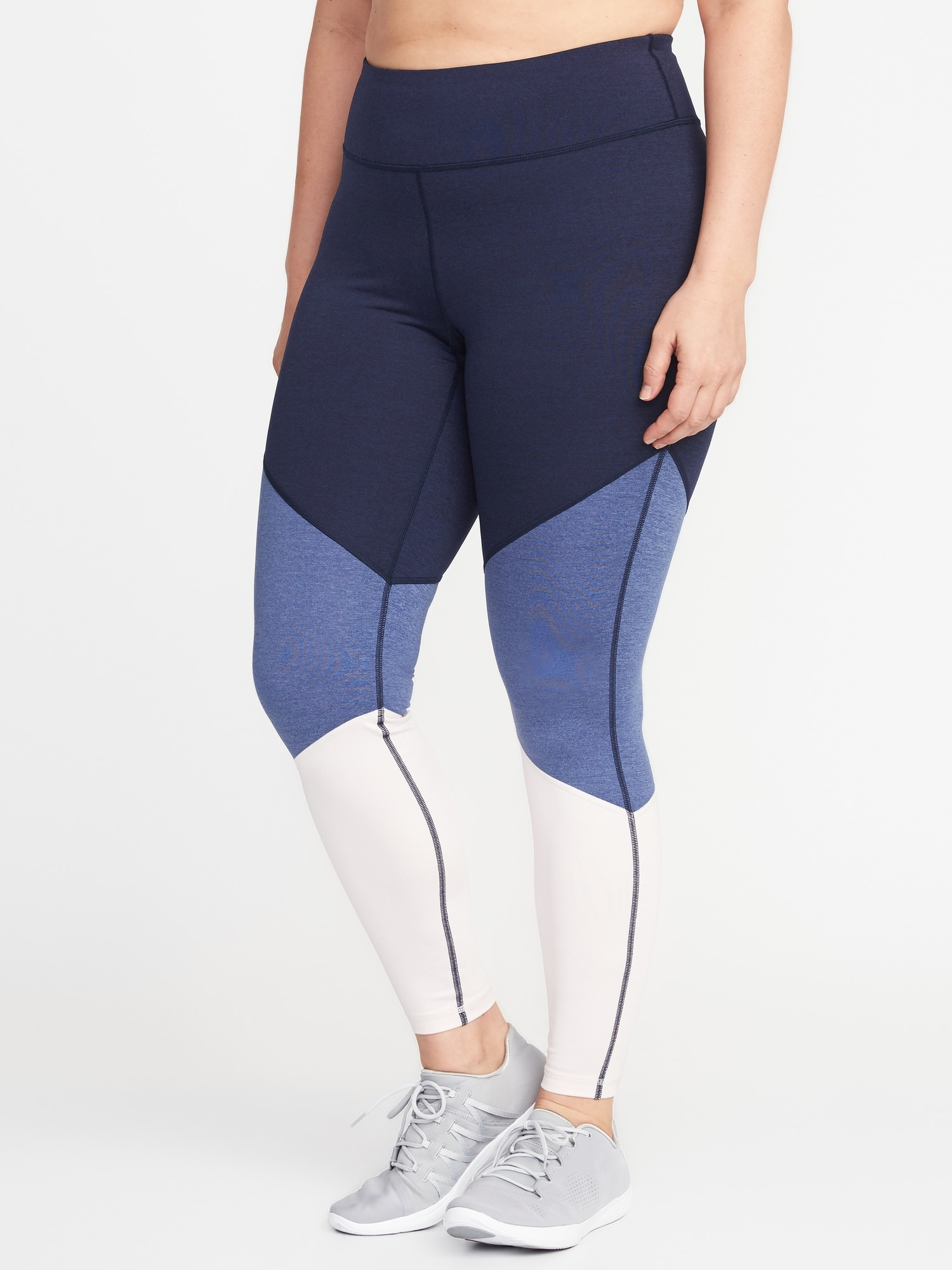 d244b9f594064 High-Rise Plus-Size Color-Block Compression Leggings