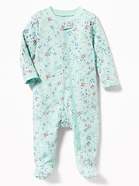 Printed Jersey Footed One-Piece for Baby