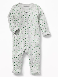 St. Patrick's Day Footed One-Piece for Baby