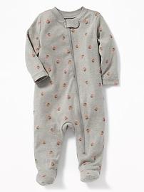 Une-pièce à pieds en jersey pour bébé