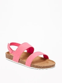 Sueded Double-Strap Sandals for Girls