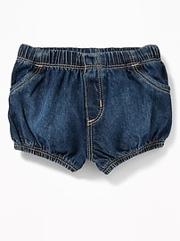 Denim Ruffle-Back Bloomers for Baby