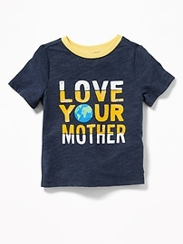 """Love Your Mother Earth"" Tee for Toddler Boys"
