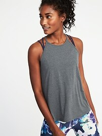 Loose-Fit Racerback Performance Tank for Women