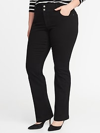 Smooth & Slim Plus-Size Built-In Sculpt Boot-Cut Jeans