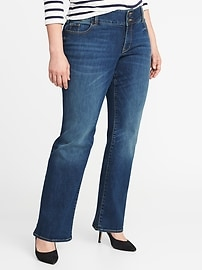 Smooth & Slim High-Rise Built-In Sculpt Plus-Size Boot-Cut Jeans