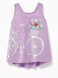 Graphic Swing Tank for Toddler Girls