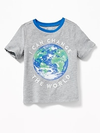 Earth Day-Graphic Tee for Toddler Boys